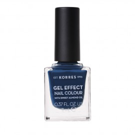 Korres Gel Effect Nail Colour No.84 Indigo Blue Βερνίκι Νυχιών, 11ml