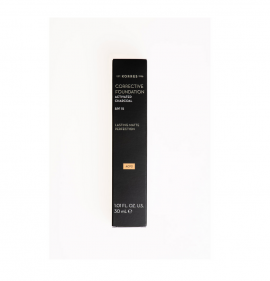 Korres Corrective Foundation SPF15 Activated Charcoal ACF2 Διορθωτικό Make-up με Ενεργό Άνθρακα 30ml