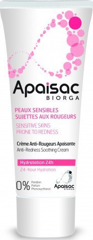 Biorga Apaisac Anti-Redness Soothing Cream, 24ωρη Ενυδατική Κρέμα 40ml