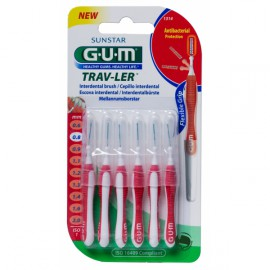 GUM 1314 ΜΕΣΟΔΟΝΤΙΑ TRAV-LER Tapered 0,8mm x6