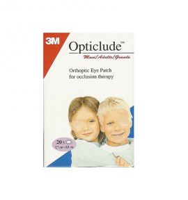 3M Opticlude Maxi Adults Eye Patches 5.7cm x 8.2cm 20τμχ (1539)
