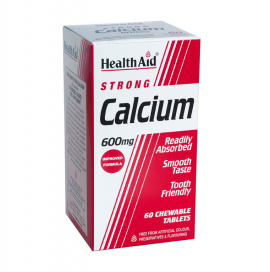 HEALTH AID STRONG CALCIUM 600MG CHEWABLE TABLETS 60S