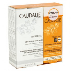 Caudalie Vinoperfect Radiance Serum Complexion Correcting 30 ML + Caudalie Soleil Divin Anti-Ageing Face Suncare SPF50 40 ML