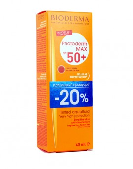 BIODERMA PHOTODERM MAX AQUAFLUIDE TEINTE DOREE SPF 50  40ML -20%