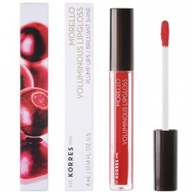 Korres Morello Voluminous Lipgloss Plump Lips Brilliant Shine 54 Real Red 4ml