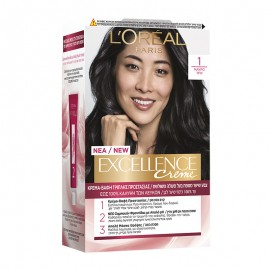 LOreal Excellence Creme 1 Μαύρο 48ml