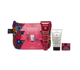 Apivita Set Beautiful You Wine Elixir Anti-Wrinkle Day Cream SPF30 40ml & ΔΩΡΟ Γαλάκτωμα Καθαρισμού 3σε1 50ml & Wine Elixir Κρέμα Νύχτας 15ml