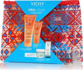 Vichy Sun Velvet Set - Ideal Soleil Lait-Gel SPF50 200ml & Ideal Soleil Emulsion Tinted SPF50+ 50ml + Δώρο Quenching Mineral Mask 15ml & Mineral 89 5ml